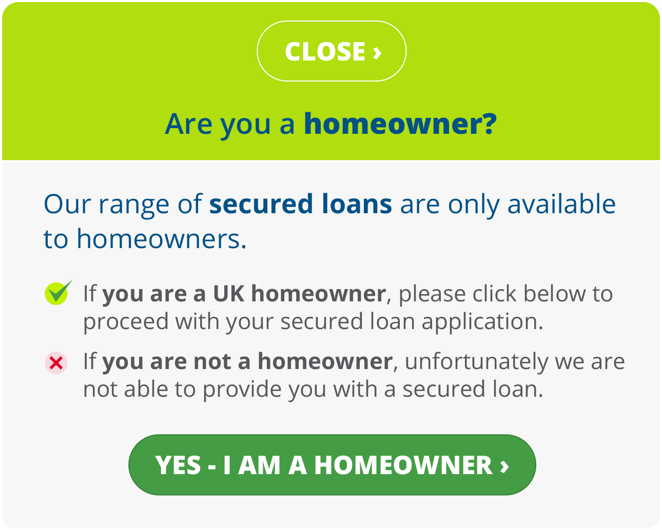 Are you a homeowner?